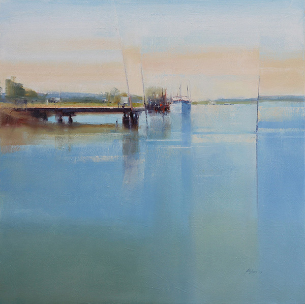 John Lacey, Morning Reflections, 2013. Oil on canvas, 91 x 91cm. $3,900