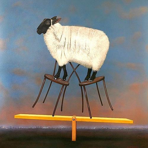 Graeme Townsend, Ewe Balance, limited edition signed giclee print, 85 x 83cm. $1,500