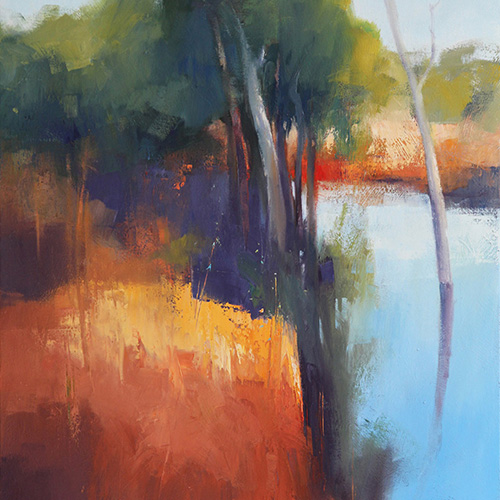 John Lacey, Afternoon Glow Karijini, 2013. Oil on canvas, 91 x 121cm. $5,000