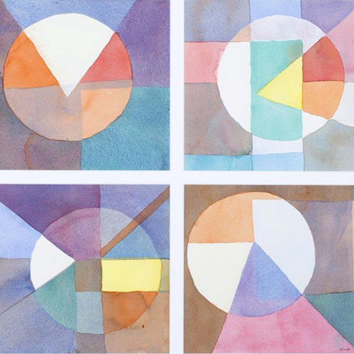Kathryn Blumke, Lost Geometry Series, 2012. Watercolour on Arches, 56 x 46cm. $1,000