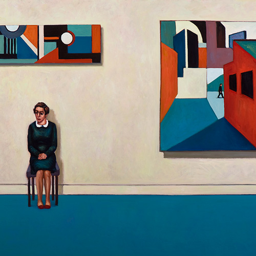 Gloria Stern, Waiting, 2013. Oil on canvas, 153 x 122cm. $8,600