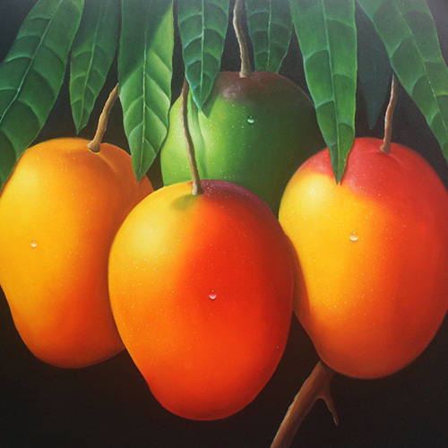 Humberto Rivas, Mangos of my land, 2013. Oil on canvas, 134.6 x 101.6cm. USD2,500