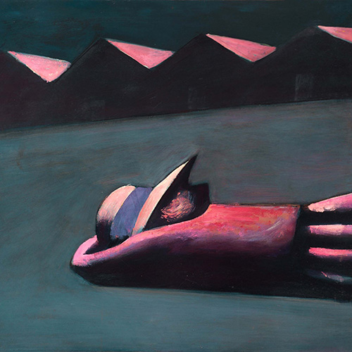 Charles Blackman, Prone Schoolgirl, limited edition signed print with archival pigments on artist card, 87 x 77cm. $1,950