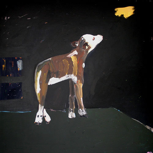 Helen Minogue, Lonely Calf, acrylic on canvas, 101.5 x 101.5cm. $800