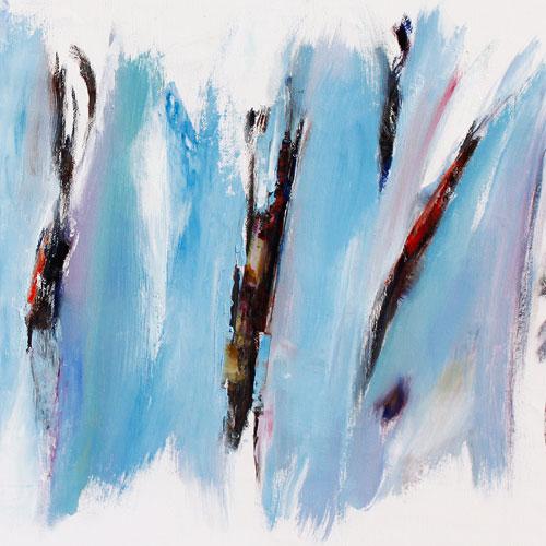 Seasons, 2008. Oil on canvas, 38 x 91cm. POA