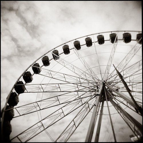 Lucid Dream, The Holga Diaries: Ferris Wheel. Limited edition fine photographic print, 41 x 41cm. $150