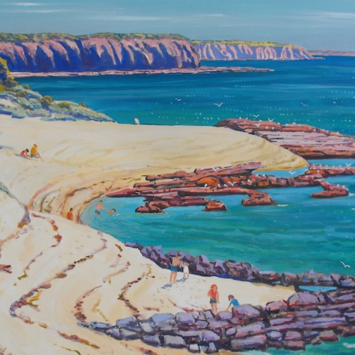 At Cape Paterson. Oil on canvas, 92 x 122cm. $3,500