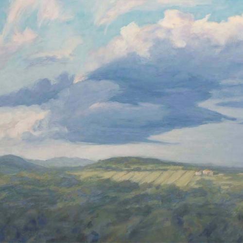 Michael Augustine, A cool change, 2008. Oils on canvas, 51 x 75 cm, $700